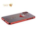 Пластиковый чехол-накладка для iPhone XS Kingxbar со стразами Swarovski 49F, цвет красный Сердце