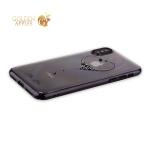 Пластиковый чехол накладка для iPhone XS Kingxbar со стразами Swarovski 49F, цвет черный The One