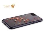 Пластиковый чехол-накладка для iPhone 8 KINGXBAR со стразами Swarovski 49F, цвет черный Веточка