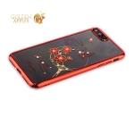 Пластиковый чехол-накладка для iPhone 7 Plus KINGXBAR со стразами Swarovski 49F, цвет красный Рифмы