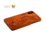 Кожаный чехол-накладка для iPhone XS Santa Barbara Polo & Racquet Club Knight Series, цвет коричневый