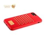 Накладка кожаная Santa Barbara Polo & Racquet Club Staccato Series для iPhone SE (2020г.) Красная