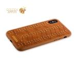 Кожаный чехол-накладка для iPhone X Santa Barbara Polo & Racquet Club Armor Series, цвет коричневый