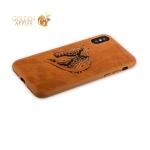 Кожаный чехол-накладка для iPhone X Santa Barbara Polo & Racquet Club Viscount Series, цвет коричневый