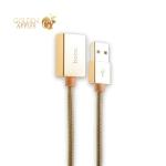 Кабель-удлинитель USB 2.0 Hoco UA3 Extendable cable, цвет золотистый