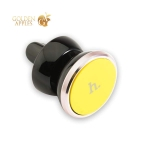 Магнитный автомобильный держатель для смартфонов в решетку Hoco CA3 Outlet magnetic vehicle holder, цвет желтый