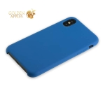 Силиконовый чехол-накладка для iPhone XS Hoco Silicone Case, цвет темно-синий