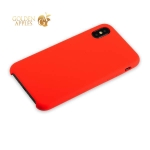 Силиконовый чехол-накладка для iPhone XS Hoco Silicone Case, цвет красный