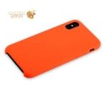 Силиконовый чехол-накладка для iPhone XS Hoco Silicone Case, цвет оранжевый