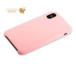 Силиконовый чехол-накладка для iPhone XS Hoco Silicone Case, цвет розовый