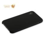 Силиконовый чехол-накладка для iPhone XS Hoco Silicone Case, цвет черный
