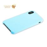Силиконовый чехол-накладка для iPhone XS Hoco Silicone Case, цвет голубой