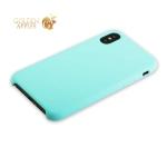 Силиконовый чехол-накладка для iPhone XS Hoco Silicone Case, цвет лазурный