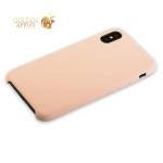 Силиконовый чехол-накладка для iPhone XS Hoco Silicone Case, цвет розовый песок