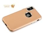 Силиконовый чехол-накладка для iPhone XS J-Case Metal touch Series Matt (0.5 мм), цвет золотистый