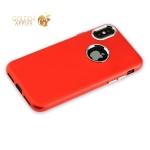 Силиконовый чехол-накладка для iPhone XS J-Case Metal touch Series Matt (0.5 мм), цвет красный