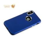 Силиконовый чехол-накладка для iPhone XS J-Case Metal touch Series Matt (0.5 мм), цвет синий