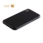 Пластиковый чехол-накладка для iPhone X Deppa Air Case D-83321 Soft touch (1 мм), цвет черный