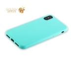 Силиконовый чехол-накладка для iPhone XS Anycase TPU A-140051 (1 мм), цвет матовый мятный
