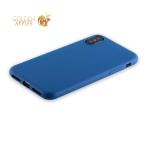 Силиконовый чехол-накладка для iPhone XS Anycase TPU A-140049 (1 мм), цвет матовый синий