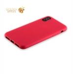 Силиконовый чехол-накладка для iPhone XS Anycase TPU A-140050 (1 мм), цвет матовый красный