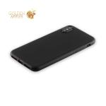Силиконовый чехол-накладка для iPhone XS Anycase TPU A-140048 (1 мм), цвет матовый черный