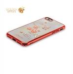Пластиковый чехол-накладка для iPhone 8 KINGXBAR со стразами Swarovski 49F, цвет красный Рифмы