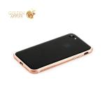 Пластиковый бампер для iPhone 7 Totu Evoque Series, цвет розовое золото