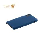 Силиконовый чехол накладка для iPhone XS Hoco Silicone Case, цвет синий