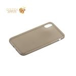 Супертонкий силиконовый чехол для iPhone X, цвет прозрачно-черный