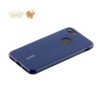 Чехол-накладка силиконовый Cherry матовый 0.4mm & пленка для iPhone 7 (4.7) Синий