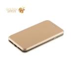 Кожаный чехол-книжка для iPhone 8 Fashion Case Slim-Fit Gold, цвет золотистый