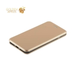 Кожаный чехол-книжка для iPhone 8 Plus Fashion Case Slim-Fit Gold, цвет золотистый