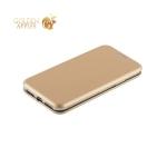 Кожаный чехол-книжка для iPhone X Fashion Case Slim-Fit Gold, цвет золотистый