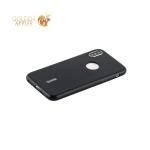 Силиконовый чехол накладка для iPhone XS Cherry 0.4 мм & пленка, цвет черный
