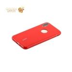 Силиконовый чехол накладка для iPhone XS Cherry 0.4 мм & пленка, цвет красный
