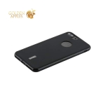 Силиконовый чехол накладка для iPhone 8 Plus Cherry 0.4 мм & пленка, цвет черный