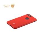 Силиконовый чехол накладка для iPhone 8 Plus Cherry 0.4 мм & пленка, цвет красный
