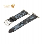 Кожаный ремешок для Apple Watch (38 mm) COTEetCI W13 Fashion LEATHER (WH5218-BK-38), цвет черно-белый
