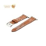 Кожаный ремешок для Apple Watch (38 mm) COTEetCI W13 Fashion LEATHER (WH5218-KR-38), цвет коричнево-белый
