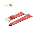 Кожаный ремешок для Apple Watch (38 mm) COTEetCI W13 Fashion LEATHER (WH5218-RD-38), цвет красно-белый