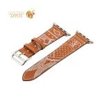 Кожаный ремешок для Apple Watch (44 mm) COTEetCI W13 Fashion LEATHER (WH5219-KR-42), цвет коричнево-белый
