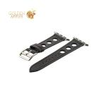 Кожаный ремешок для Apple Watch (38 mm) COTEetCI W15 Fashion LEATHER с отверстиями (WH5220-BK-38), цвет черный