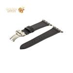 Кожаный ремешок для Apple Watch (38 mm) COTEetCI W16 Fashion LEATHER застёжка «бабочка» (WH5222-BK-38), цвет черный