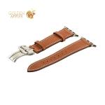 Кожаный ремешок для Apple Watch (44 mm) COTEetCI W16 Fashion LEATHER застёжка «бабочка» (WH5223-KR-42), цвет коричневый