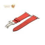 Кожаный ремешок для Apple Watch (42 mm) COTEetCI W16 Fashion LEATHER застёжка «бабочка» (WH5223-RD-42), цвет красный