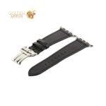 Ремешок кожаный COTEetCI W16 Fashion LEATHER застёжка «бабочка» (WH5223-BK-42) для Apple Watch 44 мм Черный