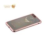 Пластиковый чехол накладка для iPhone 8 Plus Kingxbar со стразами Swarovski 50H, цвет розовый The One