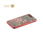 Пластиковый чехол накладка для iPhone 8 Plus Kingxbar со стразами Swarovski 49D, цвет красный Веточка