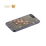 Пластиковый чехол накладка для iPhone 8 Plus Kingxbar со стразами Swarovski 49D, цвет черный Веточка